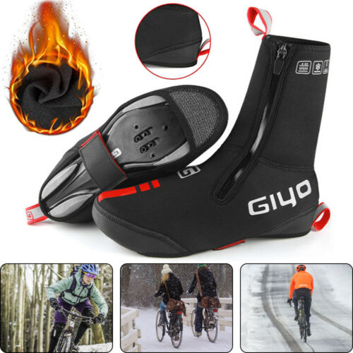 Winter Cycling Shoes Covers Fleece Warm Windproof Protector Waterproof Overshoes