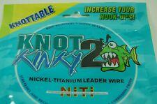 1x7 Multi Strand Nickel-Titanium Vorfach Knot 2 Kinky in 12 lbs 5,44 kg