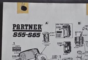 vintage partner chain saws dealer parts page for partner model s55 rh ebay com Homelite Chainsaw Parts Only partner s55 chainsaw parts list