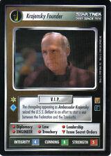 STAR TREK CCG RULES OF ACQUISITION RARE CARD KRAJENSKY FOUNDER