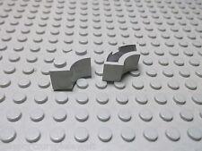 Lego 2 althellgrau Brunnensteine Viertelsteine 2x2  3063 Set 6940 7190 10020 493