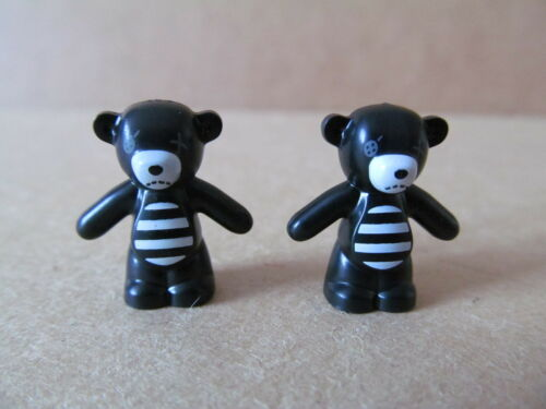 LEGO Teddy Bear minifigure accessory BRAND NEW black and white x2
