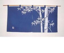 Noren Kyoto Bamboo Roketsuzome Navy Blue Japanese Curtain Divider SE 85 x 45cm