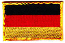 GERMAN FLAG w/GOLD BORDER/Iron On  Applique Patch, Flag of Germany