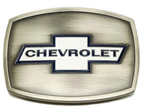 Chevrolet boucle de ceinture chevrolet logo blanc spec cast licence officielle à collectionner