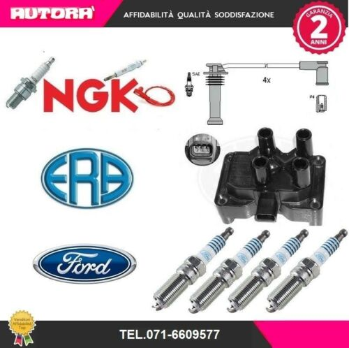 Ford Fusion KIT85-G Kit cavi+4 candele+bobina accens ERA+NGK+FORD JU 2002/>