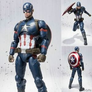 NEW-Marvel-Avengers-S-H-Figuarts-SHF-Captain-America-Action-Figure-Toy-Doll-WLZ