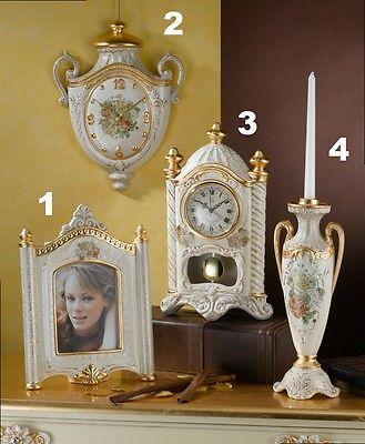 Portafoto Orologio Da Muro Tavolo Candeliere A 1 Ceramica Foglia Oro Via Veneto