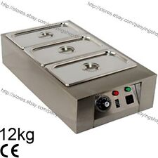 12kg Commercial Electric Chocolate Warmer Boiler Tempering Machine 3 Melting Pot