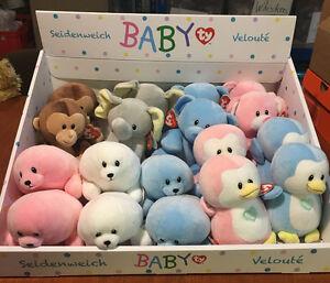 W-F-L-Baby-TY-Selection-Stuffed-Animal-17-CM-Cuddly-Toy-Teddy-Bear-Monkey