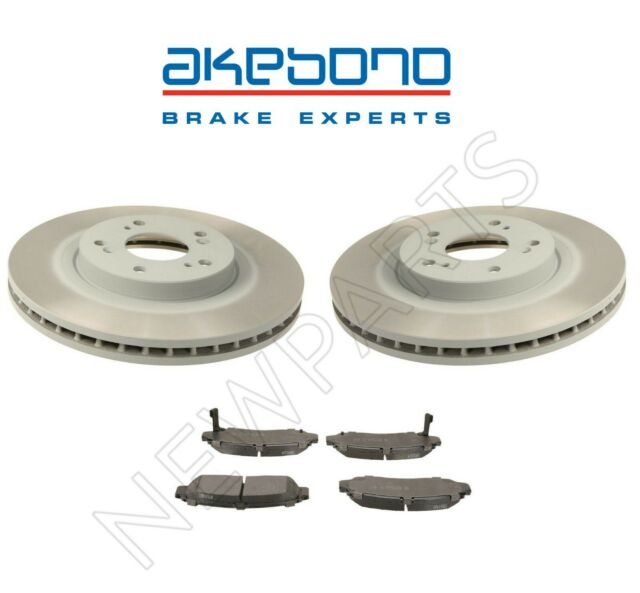 Front Left And Right Disc Brake Rotors & Pads For Acura