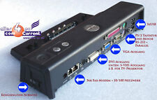 DOCKING STATION PORT REPLICATOR DELL LATUTUDE D400 D410 D420 D430 D500 D505