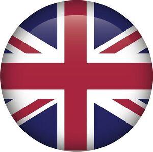 Drapeau Rond union jack drapeau national ru gb rond icône autocollant graphique