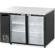 DRUSA-BB48-S2-48-034-Refrigerated-Back-Bar-Cooler-with-SLIDE-Door-GREAT-WARRANTY