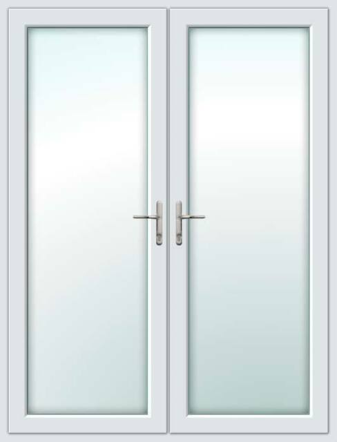 White Upvc French Doors White White 1200mm 2100mm Ebay