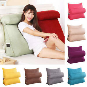 Adjustable Back Wedge Cushion Pillow Sofa Home Office Chair Rest Neck Support Ebay