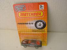 1990 MATCHBOX SUPERFAST #12 BLACK PONTIAC FIREBIRD S/E NEW MOC