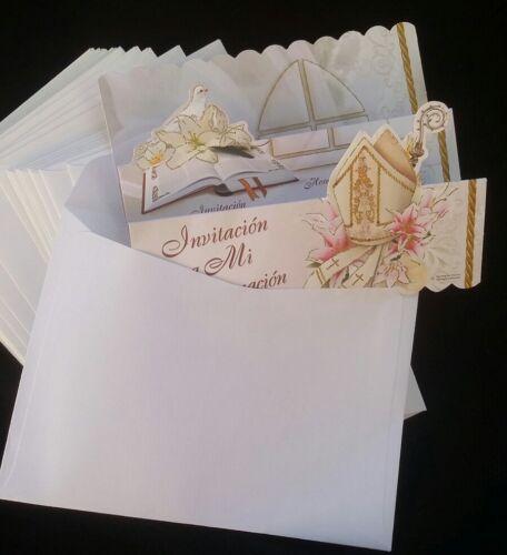 Spanish Confirmation invitations Favors,girl Invitaciones Confirmacion,niña,