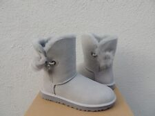 e7c8c461f7d UGG Irina Grey Violet Suede Sheepskin Swarovski Crystal Womens BOOTS Size  US 7