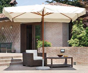 Sonnenschirm Zentriert Rechteckig 3 X 4 M Farben Holz Teakholz