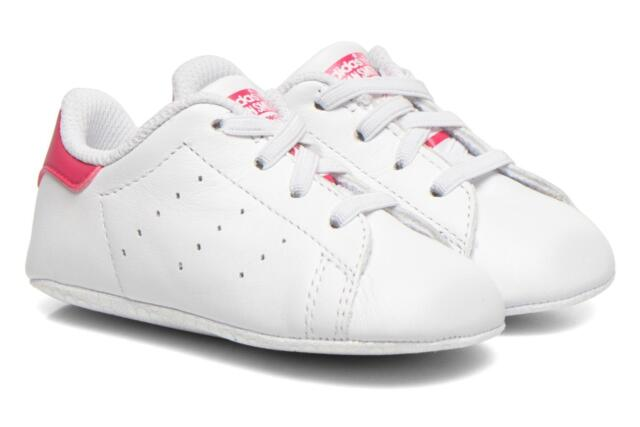 plus récent 1329b ae630 adidas Baby Shoes Stan Smith Crib S82618 White Pink 20