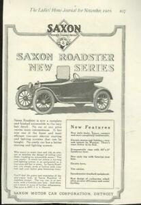 Saxon Roadsters 1916 and 1917 Advertisements Ladies Home Journal Lot of Two