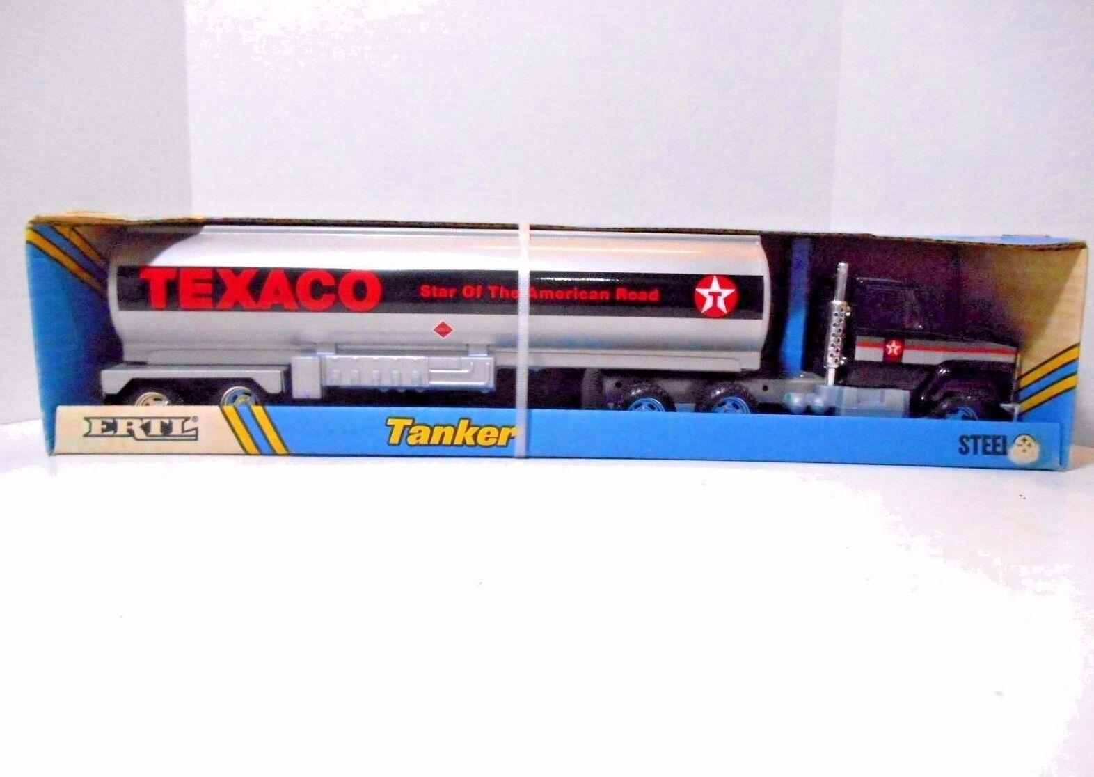 1989 tractor internacional ERTL Texaco remolque cisterna &  acero prensado