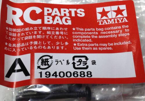 Tamiya 9400688 A RC Parts Bag Schrauben Rizel Diffzahnräder Kegelräder Fett neu