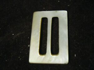 Vintage Large Rectangle White MOP Buckle