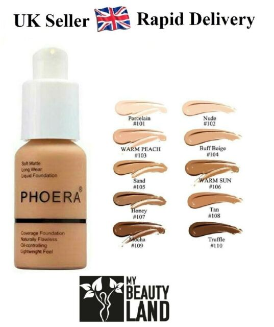 Phoera Full Coverage Matte, Long Lasting, Face Makeup Foundation - 30ml
