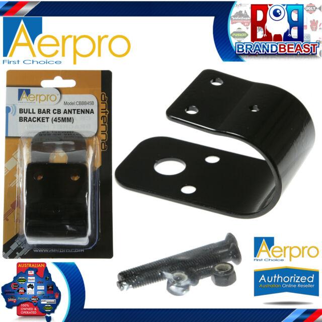 Aerpro CBBB45B 45mm CB Antenna Bull Bar Bracket Black