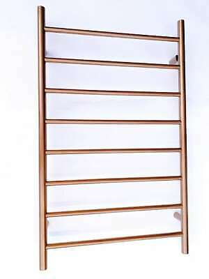 Designer Brushed Copper Stainless Steel Heated Towel Rail 300mm x 1000mm high