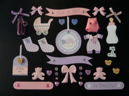 Baby Embellissements 35 objets Baby Scrapbook Pack Boy Girl Baby fabrication carte