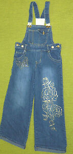 Youth Girls Classic Route 66 Brand Denim Overalls size