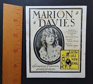 RARE-Marion-Davis-1923-Silent-Film-Advertising-Flyer-Little-Old-New-York-Movie