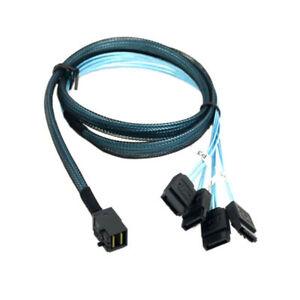 Interne-4-SATA-Cible-Mini-SAS-SFF-8643-hosthard-disque-Donnees-RAID-Serveur-Cable
