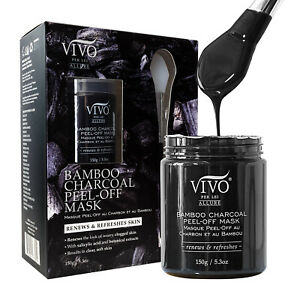 Vivo-Per-Lei-Activated-Bamboo-Charcoal-Peel-Off-Face-Mask-Facial-Pore-Remover