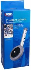 """CAREX 5"""" Walker Wheels with Leg Extensions for Elderly Walkers ( 1 Pair ) ~NEW~"""