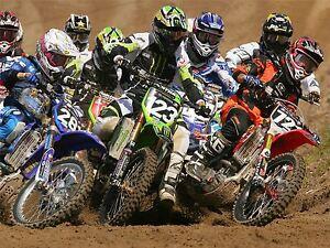 ART PRINT POSTER SPORT MOTOCROSS DIRT BIKES RACE MOTOR BIKE NOFL0442