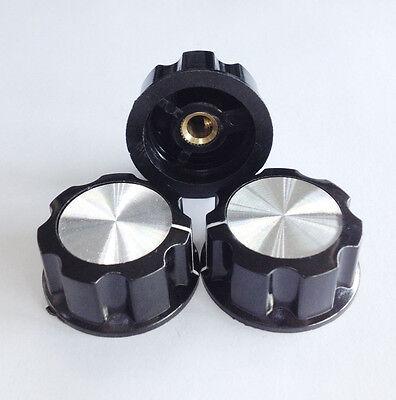 10PCS Turn 16mm Adjustable Top 6mm Shaft Insert Dia Potentiometer Rotary Knobs