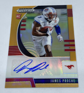 James-Proche-2020-Panini-Prizm-Draft-Picks-Orange-Prizm-Refractor-Auto-61-149