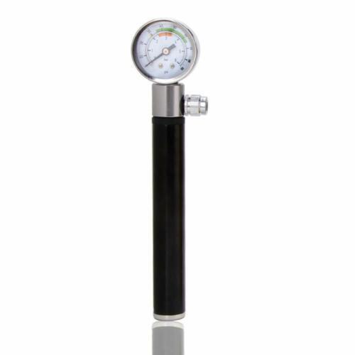 Bicycle Mini Pressure Pump With Gauge 88psi Portable Presta Schrader Valve Pump