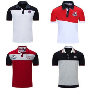 Fashion-Men-Cotton-T-Shirt-Short-Sleeve-Patchwork-Polo-Shirts-with-Embroidered