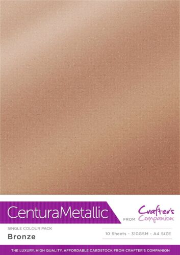 Centura Metallic Single Sided Single Colour 10 Sheet Pack 300GSM FREE UK P/&P