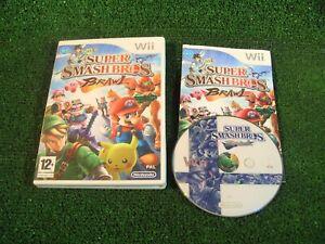 NINTENDO Wii juego Super Smash Bros Brawl ** probado + Completo con Manual
