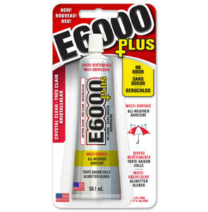 E6000 PLUS Multi Surface - No Odour Industrial Strength Adhesive Glue Clear 56ml