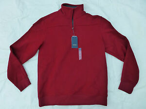 NWT MENS ARROW FLEECE 1/4 ZIP PULLOVER SWEATER $60 480634 RED | eBay