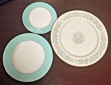 Retro ZYLSTRA Spring Wreath & Ada-Fine China Dinner Plate, Salad Plate & Dessert