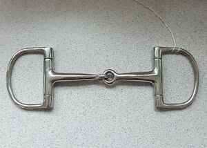 D-RING-SINGLE-JOINT-SNAFFLE-HORSE-BIT-5-TO-6-INCH-STAINLESS-STEEL-ENGLISH-MADE