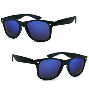 Polarized-Retro-Square-Frame-Sunglasses-Matte-Black-Frame-Blue-Mirror-Lens
